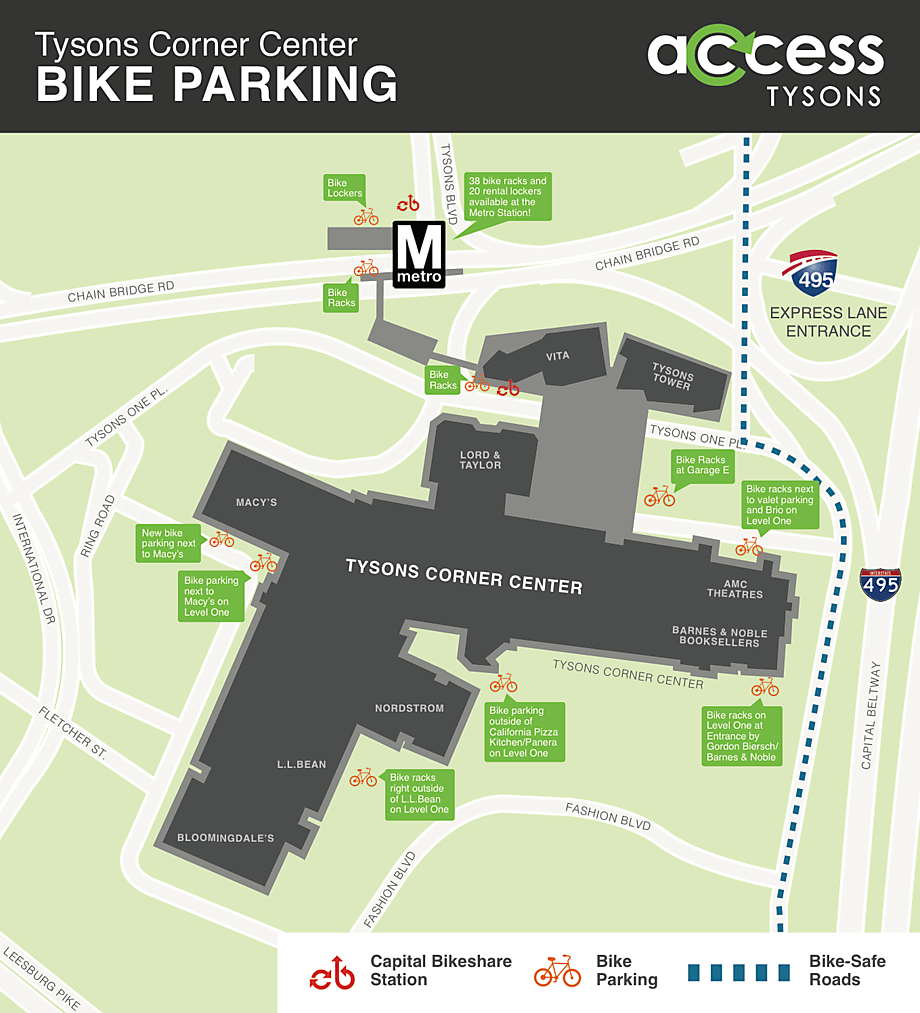 bike parking access tysons